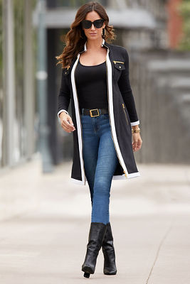 Chic Zip Duster