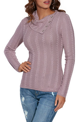 Fold-Over Cable Sweater