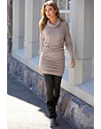 Cowl-neck Sweater Dress Photo