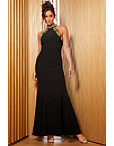 Embellished High-neck Gown Photo