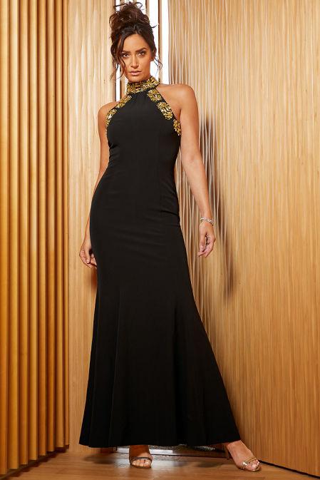 Embellished High-Neck Gown image
