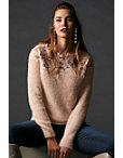Lace Plush Long-sleeve Sweater Photo
