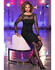 Long-sleeve Sequin Illusion Sheath Dress Photo