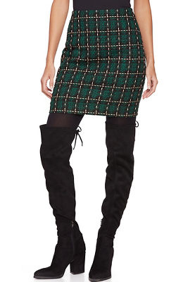 Plaid Above-the-Knee Skirt