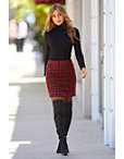 Plaid Above-the-knee Skirt Photo
