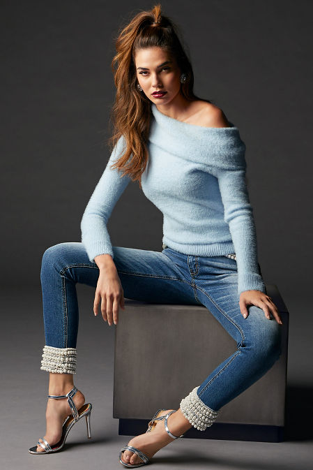 Plush Slouchy Long-Sleeve Sweater image