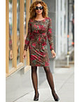Ruched Animal And Rose Print Dress Photo