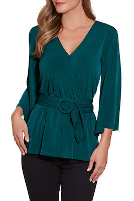 Surplice Belted Top