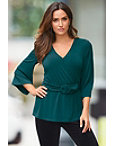 Surplice Belted Top Photo