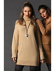 Turtleneck Long-sleeve Sweater Dress Photo
