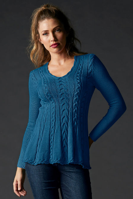 Cable A-Line Sweater image