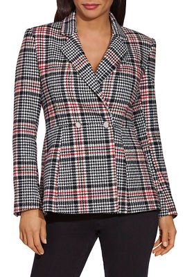 plaid two-button blazer