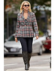 Plaid Two-button Blazer Photo