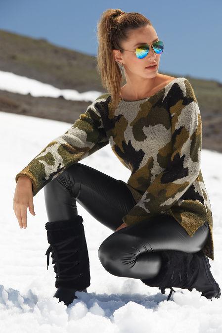 Camo Slouchy Sweater image