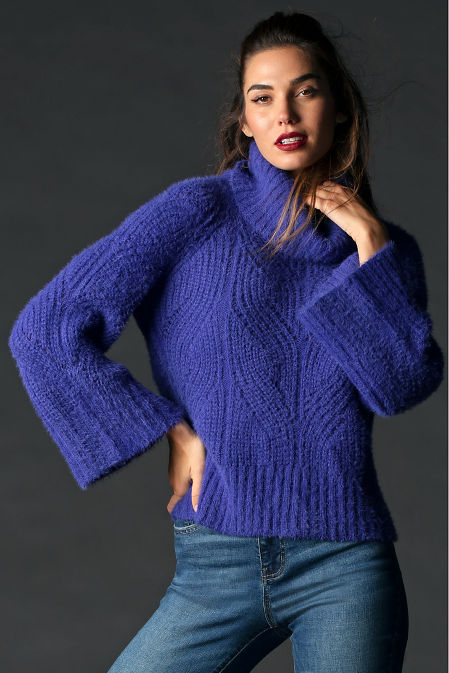 Cozy Cable Turtleneck Sweater image