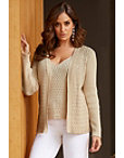 Rhinestone Embellished Cardigan Photo