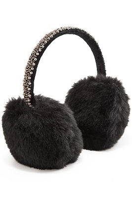 Beaded Faux-Fur Earmuffs