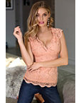 Lace Cap-sleeve Top Photo
