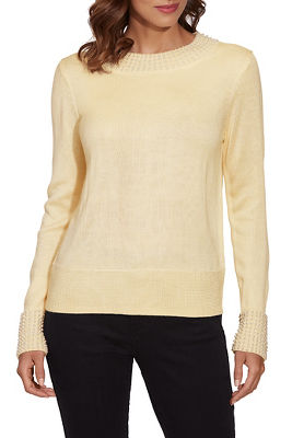 Pearl Trim Detail Sweater