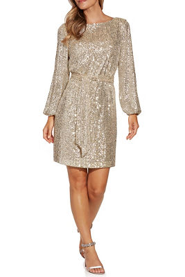 Sequin Tie-Waist Dress