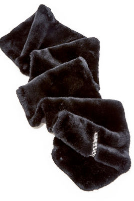 Embellished Faux-Fur Shawl