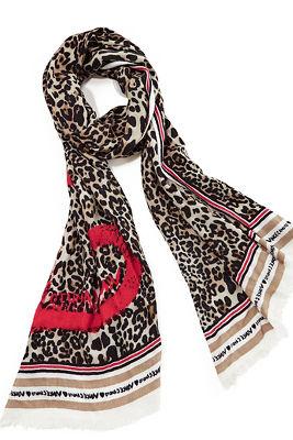 Leopard Heart Scarf