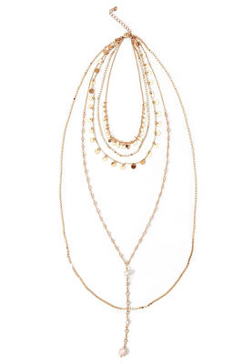 Five Layer Gold Necklace