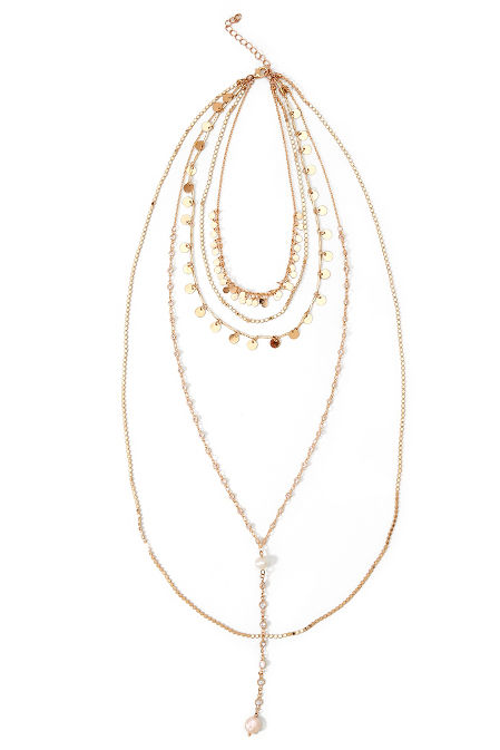 Five Layer Gold Necklace image