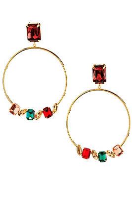royal gemstone earrings