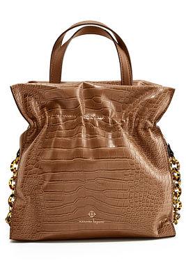 Ruched Vegan Leather Bucket Bag