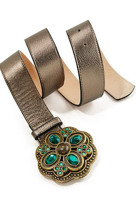 emerald buckle belt
