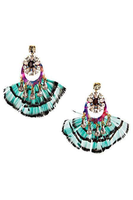 Peacock Feather Earrings image