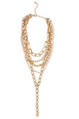 Chainlink Pearl Necklace