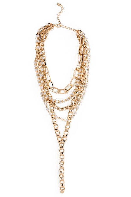 Chainlink Pearl Necklace image