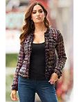 Sequin Tweed Cropped Jacket Photo