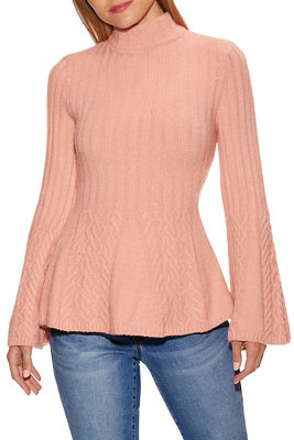 Cable Detail Peplum Sweater