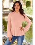 Cable Detail Peplum Sweater Photo