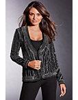Embellished Stripe Velvet Jacket Photo