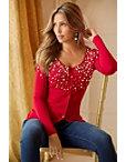 Embellished Button-up Cardigan Sweater Photo