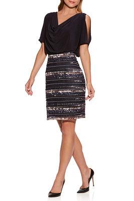 Embellished Cold-Shoulder Dress