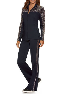 Embellished Sport Two-Piece Warm-Up