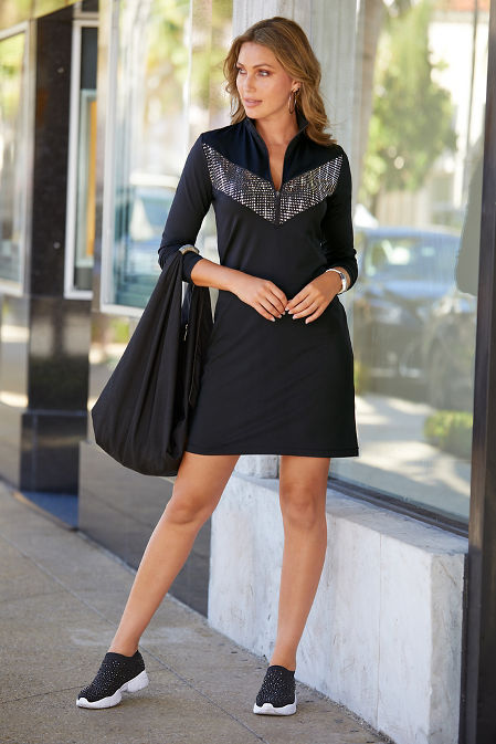 Embellished Zip Sport Dress image