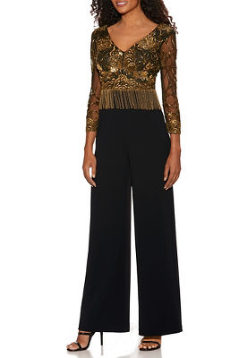 Gold Fringe Embellished Jumpsuit