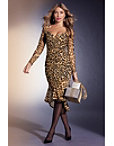 Long-sleeve Mesh Animal-print Dress Photo