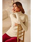 Mini Cable Funnel-neck Sweater Photo