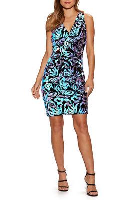 Multi Velvet Sequin Dress