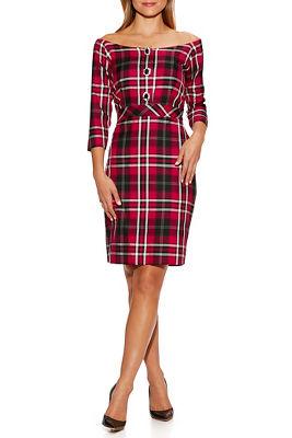 Plaid Brooch Dress