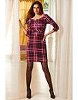 Plaid Brooch Dress Photo