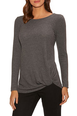 so soft knotted tunic top
