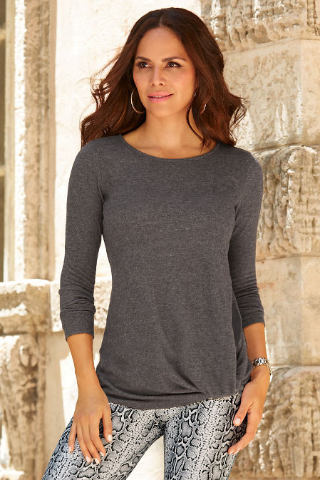 So Soft Knotted Tunic Top image
